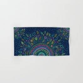 Midnight Garden Mandala Hand & Bath Towel