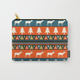 Festive Christmas deer pattern Carry-All Pouch