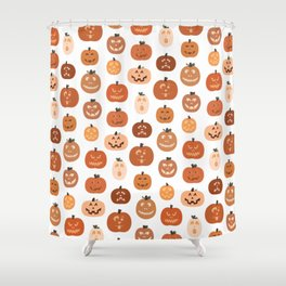 jack o' lanterns. (white variant) Shower Curtain