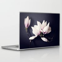 magnolia Laptop & iPad Skins featuring Magnolia by Sirka H.