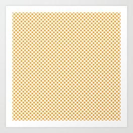 Radiant Yellow Polka Dots Art Print