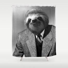 Gentleman Sloth with Striped Tie Shower Curtain