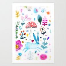 mushroom kingdom Art Print