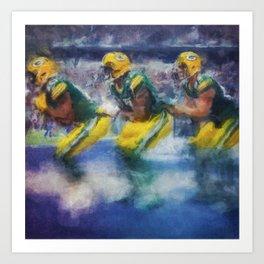 Green Bay Bobsled Team Art Print