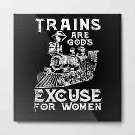 Train Woman Train Driver Metal Print