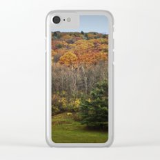 October Mountain Forest Clear iPhone Case