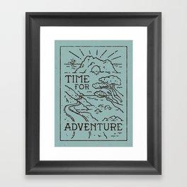 Time For Adventure Framed Art Print
