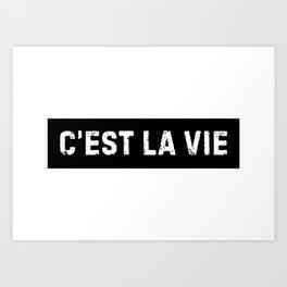 Stamp Series: C'EST LA VIE Art Print