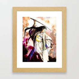Tomoe Gozen watercolor Framed Art Print