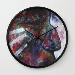 Freedom Calls (Wolf Robe) Indian Native American Wall Clock