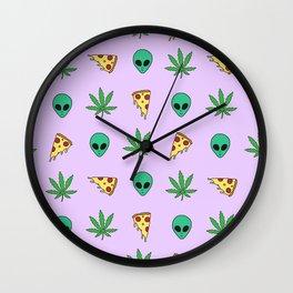 Trippy Pins Wall Clock