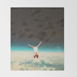 Falling with a hidden smile Throw Blanket