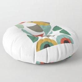 Landscape with birds Floor Pillow