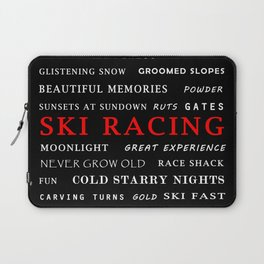Ski Racing Black Laptop Sleeve