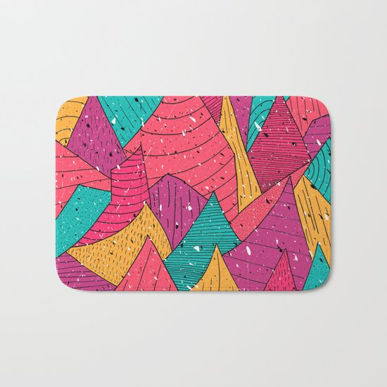 Peak Pattern Bath Mat