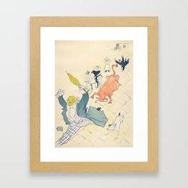 """Henri de Toulouse-Lautrec """"La Vache Enragée (The Mad Cow)"""" Framed Art Print"""