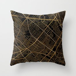 Bogota map, Colombia Throw Pillow