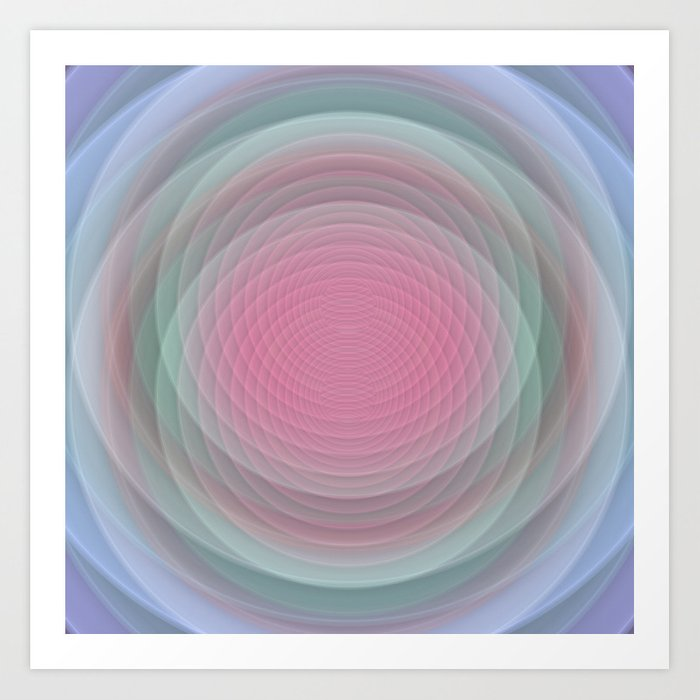 Patterns, Pastels and Motion Abstract Art Print