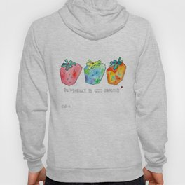 Difference Is Not Wrong watercolor painting strawberry illustration fruits nursery kitchen Hoody