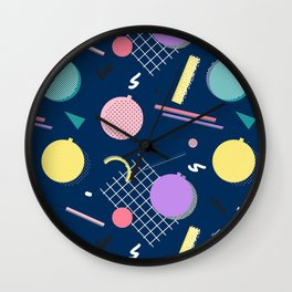 80s Xmas #society6 #retro #xmas Wall Clock
