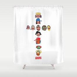 Goons Cross Shower Curtain