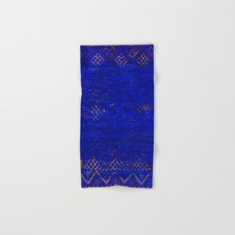 V11 Calm Blue Printed of Original Traditional Moroccan Carpet Hand & Bath Towel