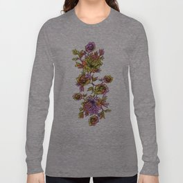 Rainbow Flowers Long Sleeve T-shirt
