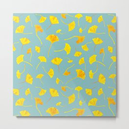 Ginkgo Collection Metal Print
