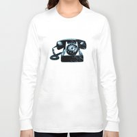 telephone Long Sleeve T-shirts featuring Old Telephone by Mr and Mrs Quirynen