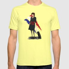 Come fly with me, let's fly, let's fly away - France SMALL Lemon Mens Fitted Tee