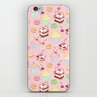 macaroon iPhone & iPod Skins featuring sweet pattern aka cake , cupcake and macaroon by Marta Olga Klara