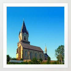 The village church of Haslach I | architectural photography Art Print