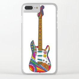 Psychedelic Guitar Clear iPhone Case