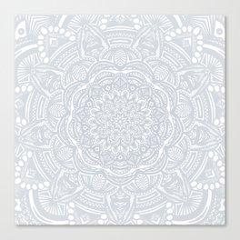 Light Gray Ethnic Eclectic Detailed Mandala Minimal Minimalistic Canvas Print
