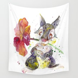 Thumper With Flower Wall Tapestry