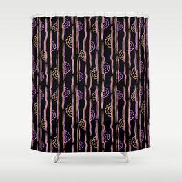 CALISTA VINTAGE, RETRO FLORAL: MYSTERIAN Shower Curtain