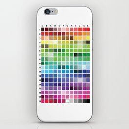 Color Chart iPhone Skin