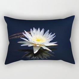 White Water Lily- horizontal Rectangular Pillow
