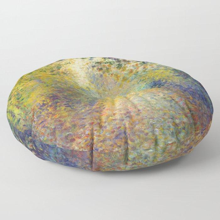"""Auguste Renoir  """"In the Woods"""" Floor Pillow"""