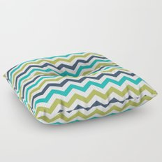 Chevron Navy Lime Turquoise Pattern Floor Pillow