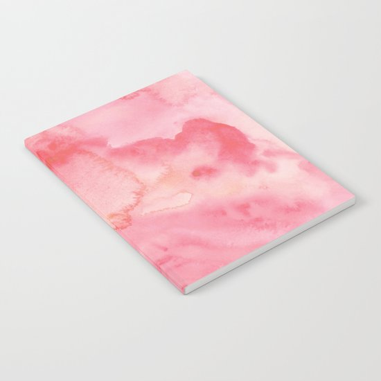 Watercolor Pink Notebook