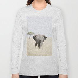 an elephant wanders in Serengeti National Park, Tanzania Long Sleeve T-shirt