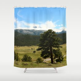 Rocky Mountain Morning Shower Curtain