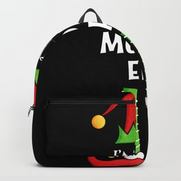 Moody Elf Family matching Christmas Gift Backpack