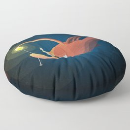 Good Night by Angler Fish Floor Pillow
