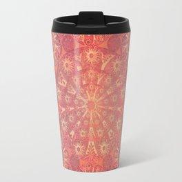 """Coral & Rosewood Mandala (pattern)"" Travel Mug"