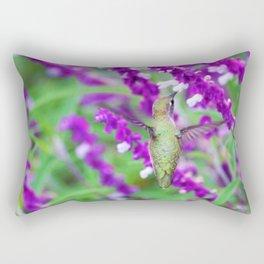 Purple Attraction Hummingbird Rectangular Pillow