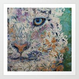 Royal Snow Leopard Art Print