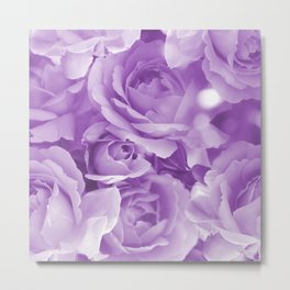 Violet Rose Bouquet For You - Valentine's Day #decor #society6 #homedecor Metal Print