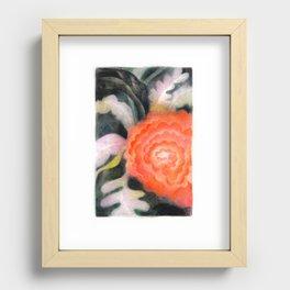 Fleur Rouge Recessed Framed Print